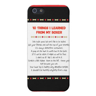 Funny Things I Learned From My Boxer iPhone 5 Cover