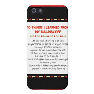Funny Things I Learned From My Bullmastiff Cover For iPhone 5/5S