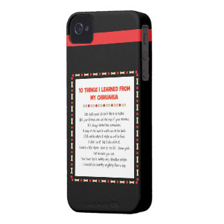 Funny Things I Learned From My Chihuahua iPhone 4 Case-Mate Case