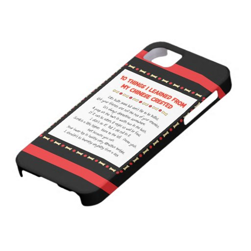 Funny Things I Learned From My Chinese Crested iPhone 5 Cover