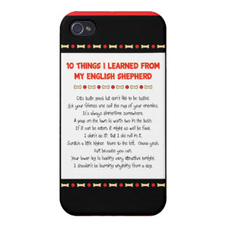Funny Things I Learned From My English Shepherd Cover For iPhone 4