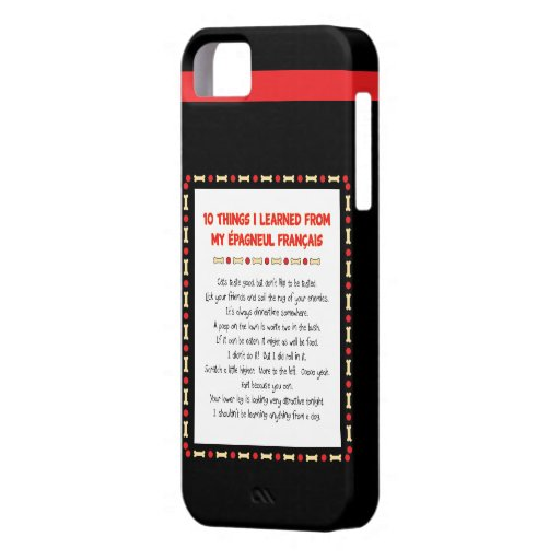 Funny Things I Learned From My Épagneul Français iPhone 5 Cover