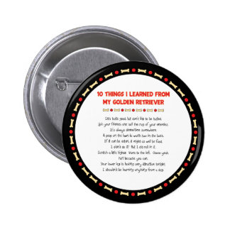 Funny Things I Learned From My Golden Retriever 2 Inch Round Button
