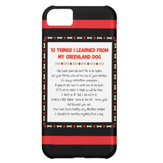 Funny Things I Learned From My Greenland Dog iPhone 5C Cover