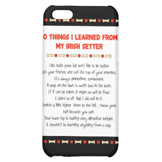 Funny Things I Learned From My Irish Setter iPhone 5C Cover