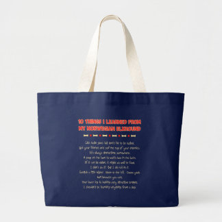 Funny Things I Learned From My Norwegian Elkhound Jumbo Tote Bag