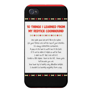 Funny Things I Learned From My Redtick Coonhound iPhone 4/4S Cases