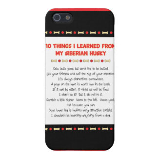 Funny Things I Learned From My Siberian Husky iPhone 5 Covers