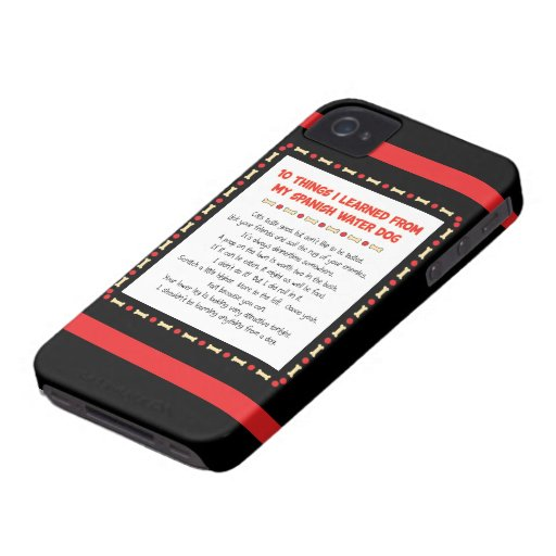 Funny Things I Learned From My Spanish Water Dog iPhone 4 Cases
