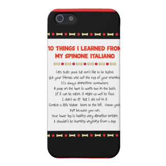 Funny Things I Learned From My Spinone Italiano iPhone 5/5S Cases