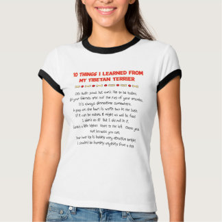 Funny Things I Learned From My Tibetan Terrier T-Shirt