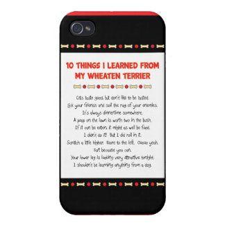 Funny Things I Learned From My Wheaten Terrier iPhone 4 Covers
