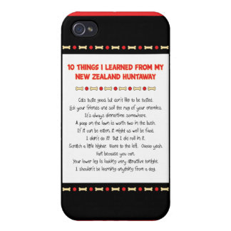 Funny Things I Learned From New Zealand Huntaway iPhone 4 Case