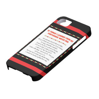 Funny Things I Learned From Portuguese Water Dog iPhone 5 Case