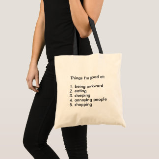 Funny Things I'm Good at List Tote Bag