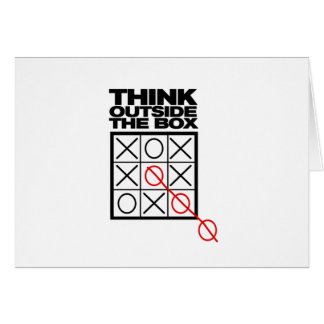 Funny Think Outside the box Card