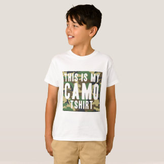 Funny This Is My Camo Tshirt