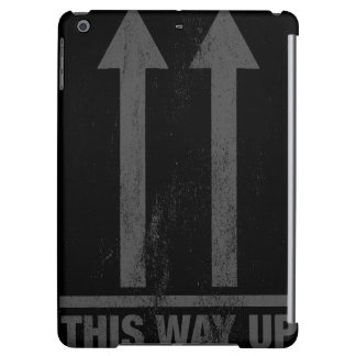 Funny this way up sign cover for iPad air