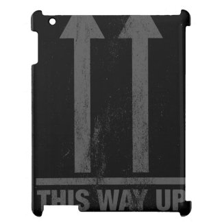Funny this way up sign cover for the iPad