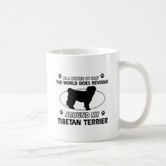 Funny tibetan terrier designs coffee mug