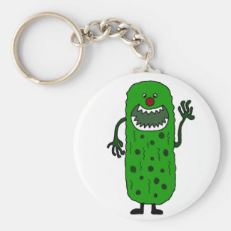 Funny Tickle Monster Cartoon Basic Round Button Keychain