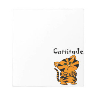 Funny Tiger Cat with Atitude Notepads