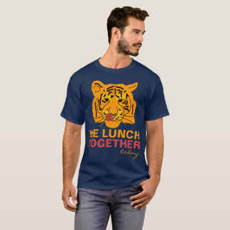 Funny Tiger Lunch Together unique customizable T-Shirt