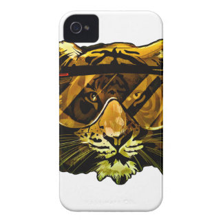 Funny Tiger with Glasses iPhone 4 Covers
