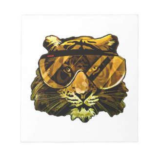 Funny Tiger with Glasses Notepad