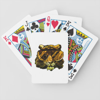 Funny Tiger with Glasses Poker Deck