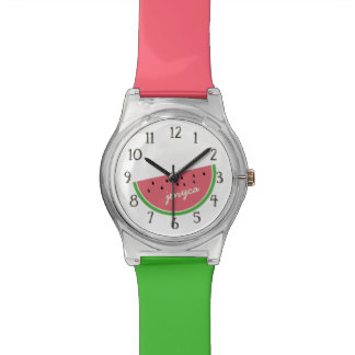 Funny Time for A Slice of Watermelon Personalized Watch