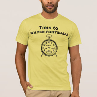 Funny Time to WATCH FOOTBALL Vintage Clock V24 T-Shirt