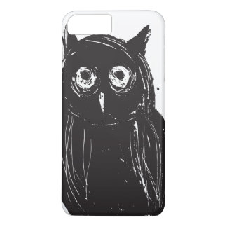 Funny tired looking owl iPhone 7 plus case