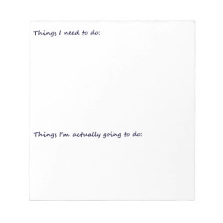 Funny To Do List Notepad