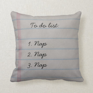 Funny To Do List Throw Pillow