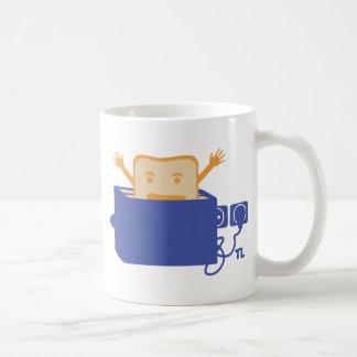 funny toaster icon basic white mug
