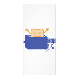 funny toaster icon custom rack cards