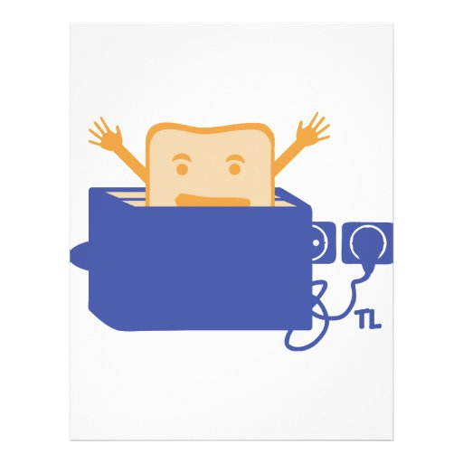 funny toaster icon custom flyer