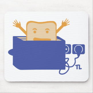 funny toaster icon mouse pad