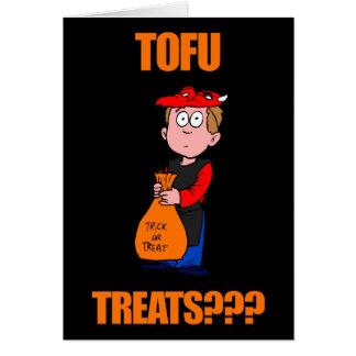 Funny Tofu Halloween Card