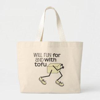 Funny TOFU Runner © Large Tote Bag