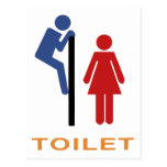 Funny Toilet Sign Post Card
