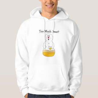 Funny Too Much Beer Snowman Shirt