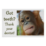 Funny Tooth Gratitude Poster