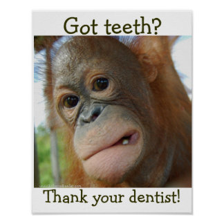 Funny Tooth Gratitude- special request Poster