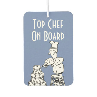Funny Top Chef Cartoon Air Freshener
