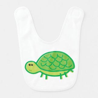Funny Tortoise on White Bib