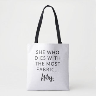 Funny tote for quilters