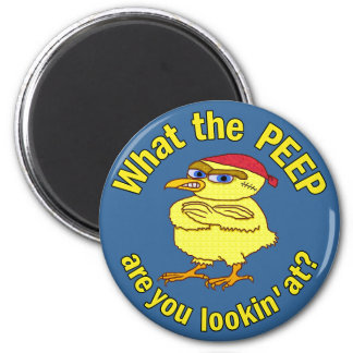 Funny Tough Easter Chick 2 Inch Round Magnet