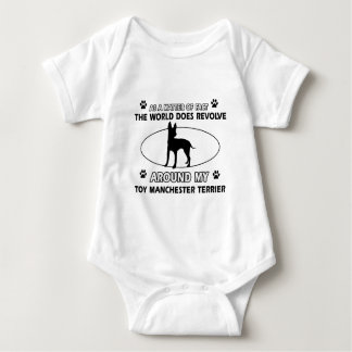 Funny toy manchester terrier designs baby bodysuit